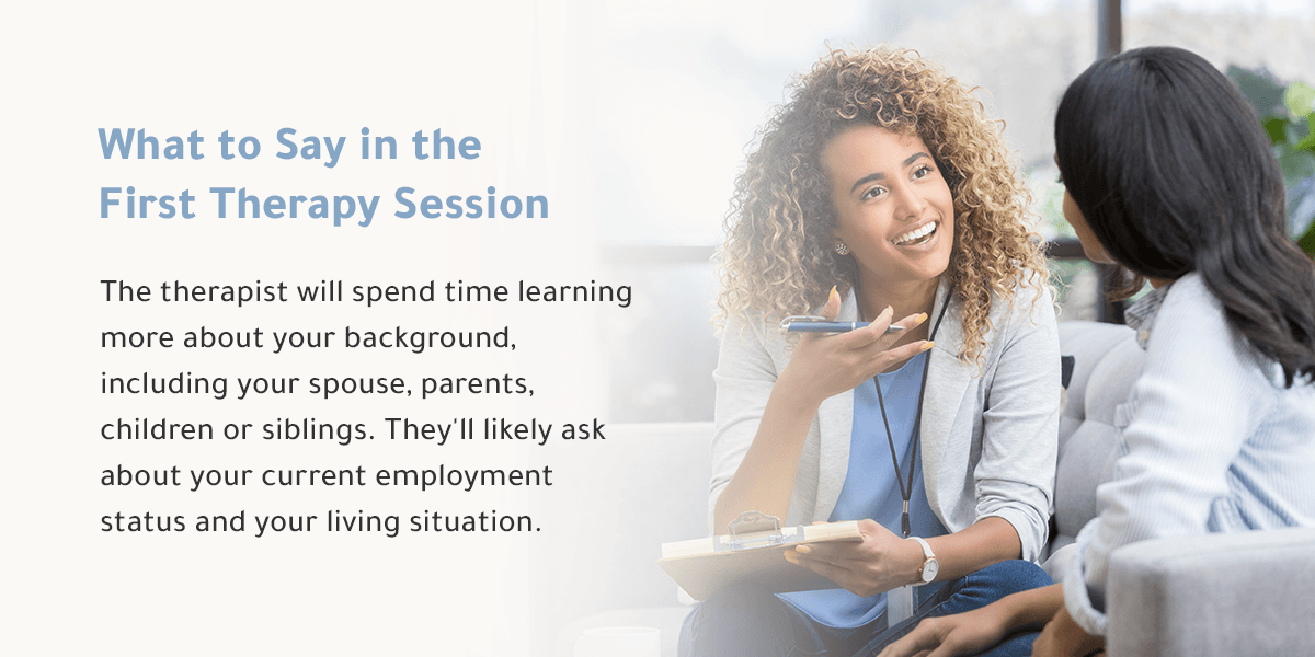 what to say in the first therapy session
